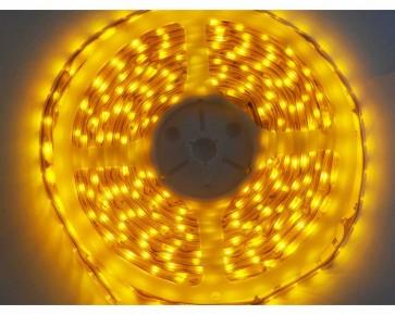 5m LED slinga, 4.8W/m, gul, IP65, 60xLED/m tänd