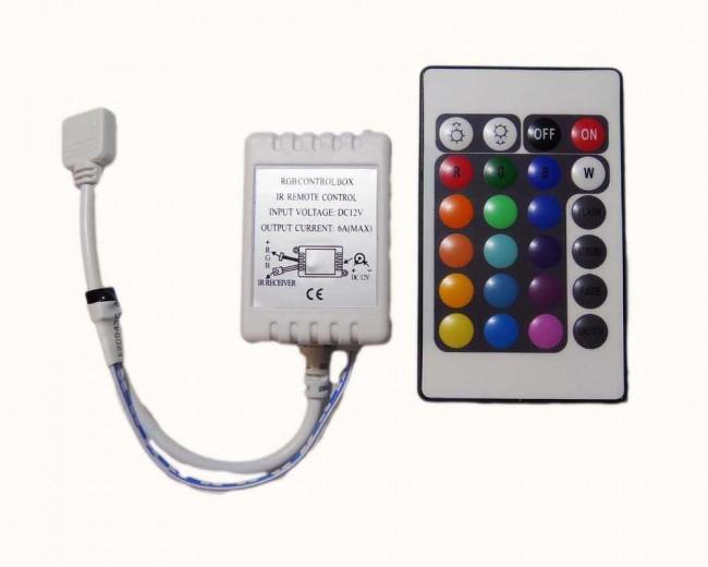 Populära LED dimmer RGB med infraröd fjärrkontroll   LEDwarehouse RX-93