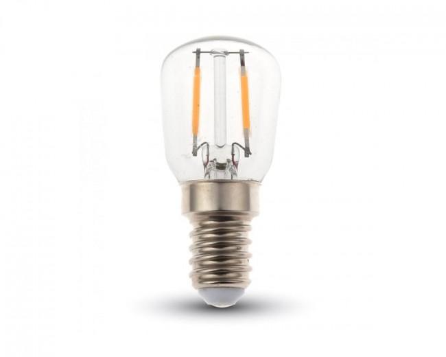 Strålande LED Retro lampa E14, 2W, 180 Lumen, filament, 220V, ST26 DS-57