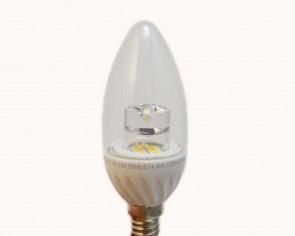 LED Uppsala E14 kronljus, varmvit, 320 lumen, 4W