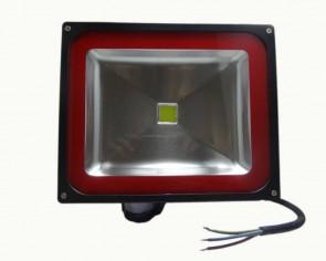 LED strålkastare Kiruna 50W med PIR, neutralvit, 4000 lumen