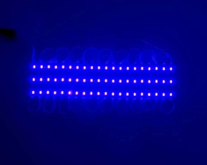 Set med 20 LED moduler, blå, tänd