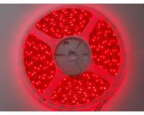 5m LED slinga, 4.8W/m, röd, IP65, 60xLED/m tänd