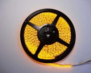 5m LED slinga, 9.6W/m, gul, IP65, 120xLED/m tänd