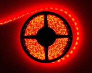 5m LED slinga, 14.4W/m, röd, IP65, 60xLED/m