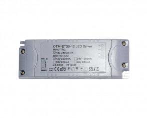 LED DC transformator, slim, 24W, 12V, 2A