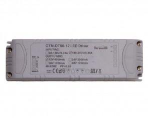 LED DC transformator, 50W, 12V, 4.2A, dimbar
