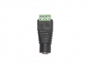 Adapter plugg 12V, skruv anslutning, ovanpå