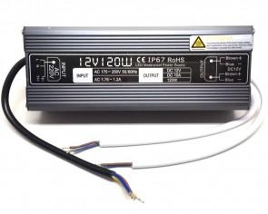 LED trafo vattentät, 120W, 12V