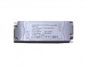 LED DC transformator, slim, 24W, 12V, 2A, dimbar