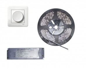 Väggdimbar LED start set, 5m slinga 4.8W/m, inomhus