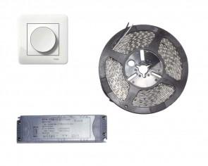 Väggdimbar LED start set, 5m slinga 9.6W/m, inomhus